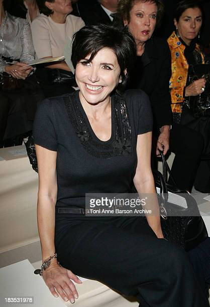 Liane Foly during Paris Fashion Week Pret a Porter Spring/Summer 2006 Celine Front Row at Tuileries in Paris France