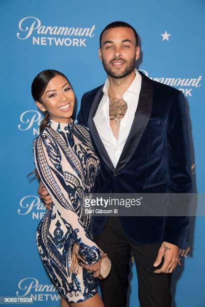 Liane V and Don Benjamin attend Paramount Network Launch Party at Sunset Tower on January 18 2018 in Los Angeles California