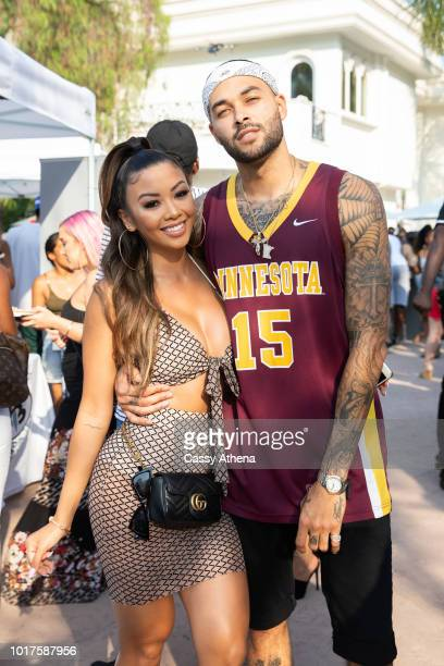 Liane V and Don Benjamin attend the Summertime Pool Party presented by Matt Barnes and Nick Cannon on August 11 2018 in Los Angeles California