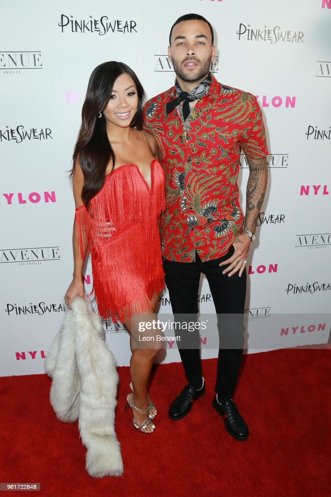 Liane Valenzuela (L) and Don Benjamin attends NYLON Hosts Annual Young Hollywood Party at Avenue on May 22, 2018 in Los Angeles, California.