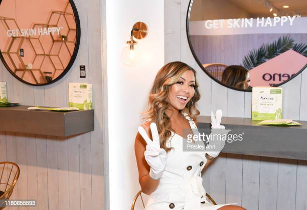 Liane Valenzuela attends Amazon's Treasure Truck Electric Beauty Pop Up Experience with Jeannie Mai at The Americana at Brand on October 12 2019 in...