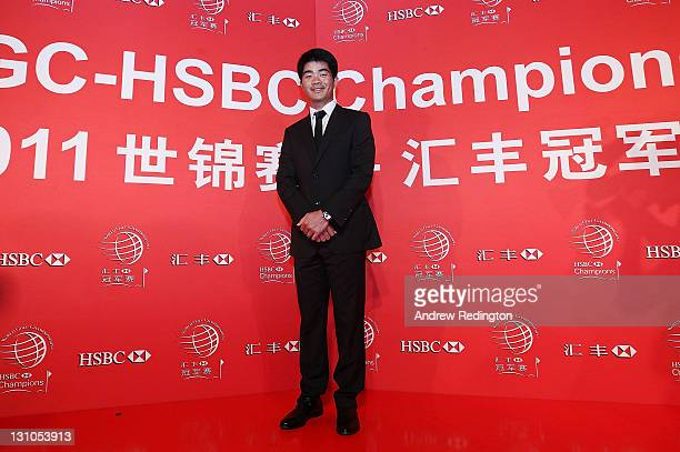 Liang Wen Chong of China poses on the red carpet during the Welcome Reception at the Waitanyuan prior to the start of the WGCHSBC Champions on...