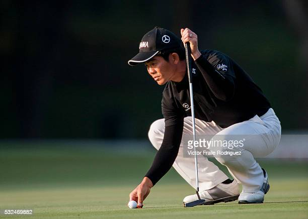 Liang WenChong of China in action during Round 2 of the UBS Hong Kong Golf Open 2011 at Fanling Golf Course in Hong Kong on 2 December 2011 Photo by...