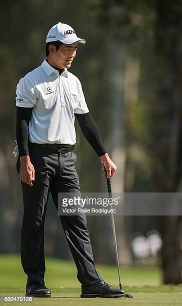 Liang WenChong of China in action during Round 3 of the UBS Hong Kong Golf Open 2011 at Fanling Golf Course in Hong Kong on 3 December 2011 Photo by...