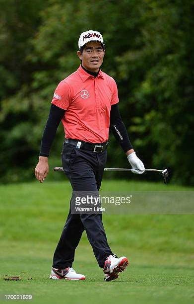 Liang WenChong of China in action during the first round of the Lyoness Open powered by Greenfinity at Diamond Country Club on June 6 2013 in...