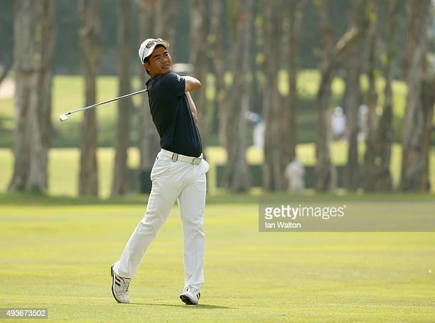 Liang WenChong of China in action during the first round of the UBS Hong Kong Open at The Hong Kong Golf Club on October 22 2015 in Hong Kong Hong...