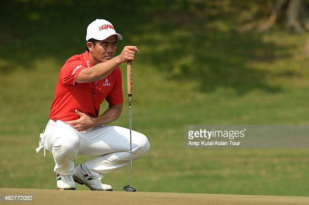 Liang Wenchong of China pictured during round one of the Venetian Macao Open at Macau Golf and Country Club on October 15 2015 in Macau Macau