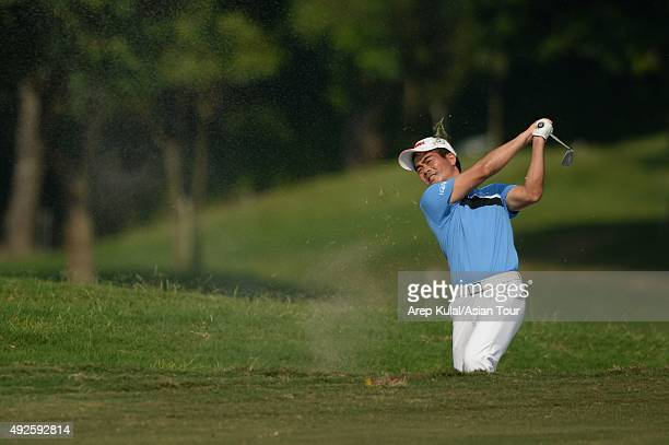 Liang Wenchong of China pictured during the Pro AM tournament ahead of the Venetian Macao Open at Macau Golf and Country Club on October 14 2015 in...