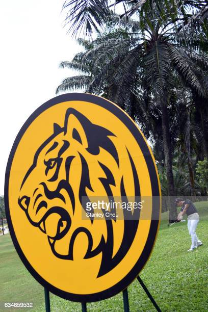 Liang WenChong of China plays his 2nd shot on the 18th hole during Day Three of the Maybank Championship Malaysia at Saujana Golf and Country Club on...