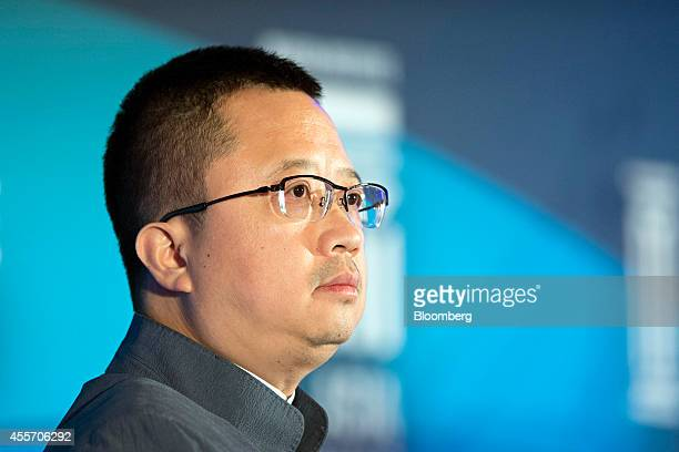 Liang Xinjun vice chairman and chief executive officer of Fosun International Ltd attends the Milken Institute Asia Summit in Singapore on Friday...