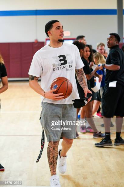 LiAngelo Ball attends his brother Lonzo Ball's first annual basketball camp on August 11, 2019 in Rancho Cucamonga, California.