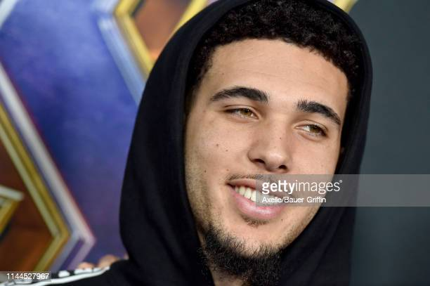 Liangelo Ball attends the World Premiere of Walt Disney Studios Motion Pictures 'Avengers: Endgame' at Los Angeles Convention Center on April 22,...
