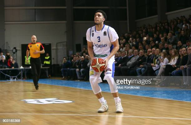 LiAngelo Ball of Vytautas Prienai in action during the match between Vytautas Prienai and Zalgiris Kauno on January 9 2018 in Prienai Lithuania
