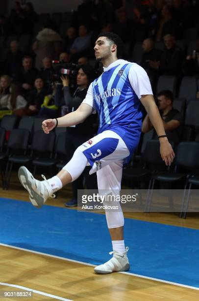 LiAngelo Ball of Vytautas Prienai prior to the match between Vytautas Prienai and Zalgiris Kauno on January 9 2018 in Prienai Lithuania