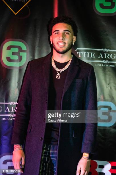 LiAngelo Ball poses on the blue carpet at his 21st Birthday Party at Argyle club on November 23, 2019 in Hollywood, California.