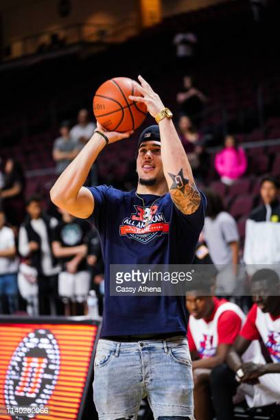 LiAngelo Ball shoots the ball after the Big Baller Brand All American Game at the Orleans Arena on March 31, 2019 in Las Vegas, Nevada.