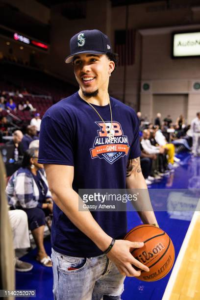 LiAngelo Ball smiles after the Big Baller Brand All American Game at the Orleans Arena on March 31, 2019 in Las Vegas, Nevada.
