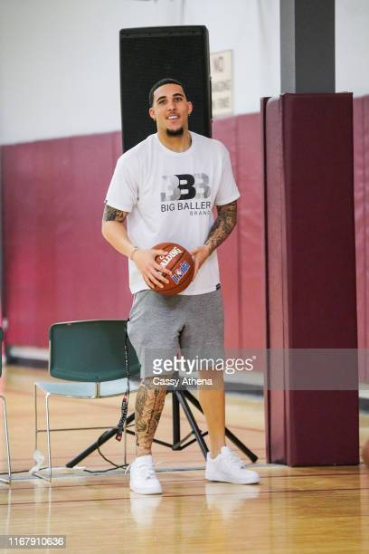 LiAngelo Ball smiles as he attends his brother Lonzo Ball's first annual basketball camp on August 11, 2019 in Rancho Cucamonga, California.