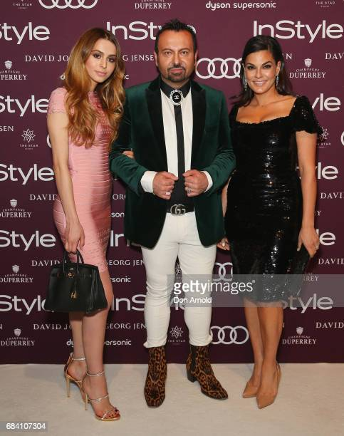 Lianna Perdis Napoleon Perdis and SoulaMarie Perdis arrive ahead of the Women of Style Awards at The Star on May 17 2017 in Sydney Australia