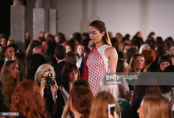 Lianna Perdis walks the runway during the Christopher Esber show at MercedesBenz Fashion Week Resort 18 Collections at The Clothing Store on May 16...