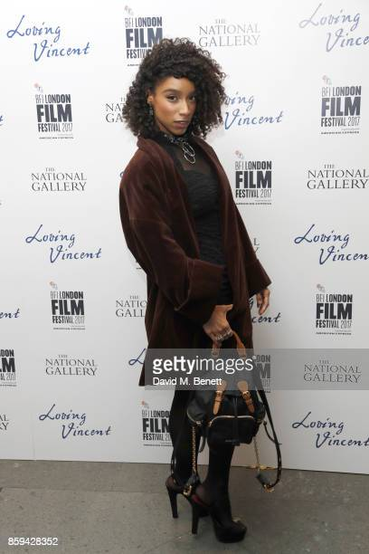 Lianne La Havas attends the UK Premiere of 'Loving Vincent' during the 61st BFI London Film Festival on October 9 2017 in London England