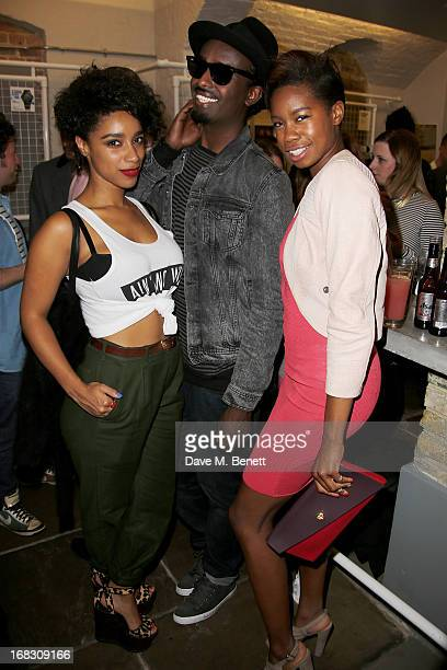 Lianne La Havas Mason Smillie and Tolula Adeyemi attend as Casio London celebrate the 1st birthday of their Covent Garden store on May 8 2013 in...