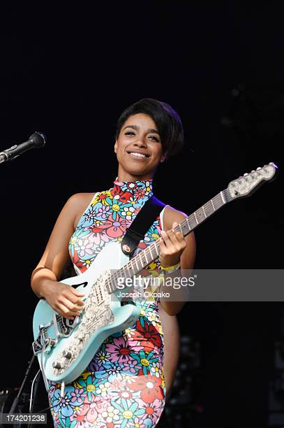Lianne La Havas performs on Day 3 of the Lovebox festival at Victoria Park on July 21 2013 in London England