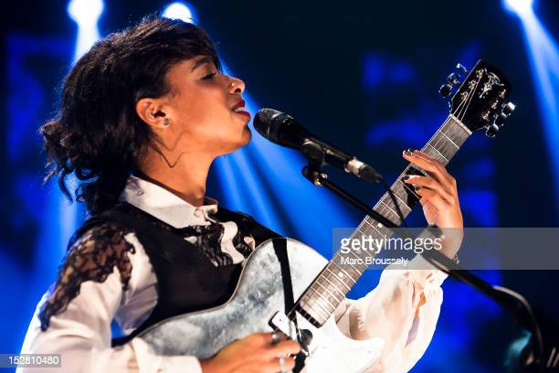 Lianne La Havas performs on stage for Barclaycard Mercury Music Prize gig at LSO St Lukes on September 26 2012 in London United Kingdom
