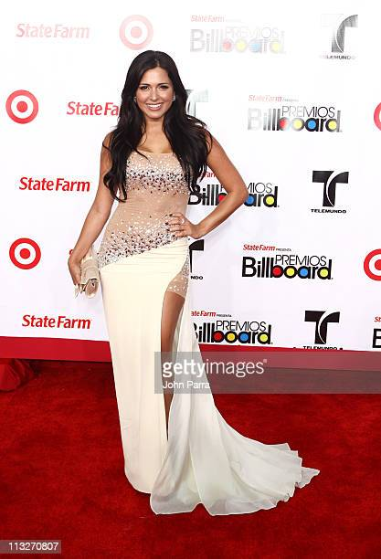 Liannet Borrego arrives at the 2011 Billboard Latin Music Awards at Bank United Center on April 28 2011 in Miami Florida