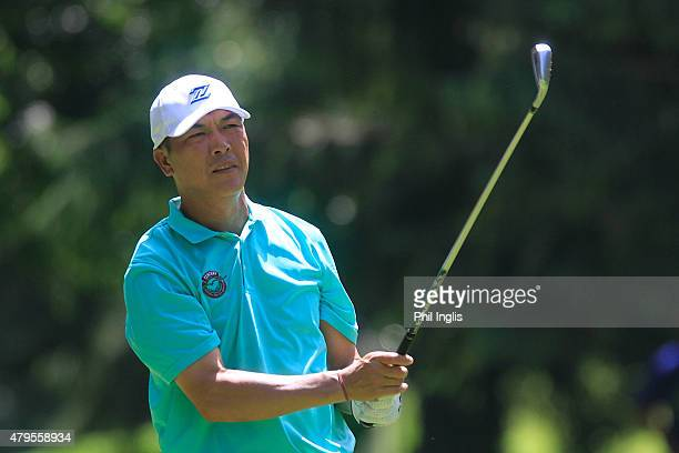Lianwei Zhang of China in action during the final round of the Swiss Seniors Open played at Golf Club Bad Ragaz on July 5 2015 in Bad Ragaz...