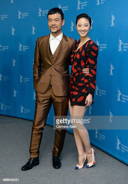 Liao Fan and Gwei Lun Mei attend the 'Black Coal Thin Ice' photocall during 64th Berlinale International Film Festival at Grand Hyatt Hotel on...