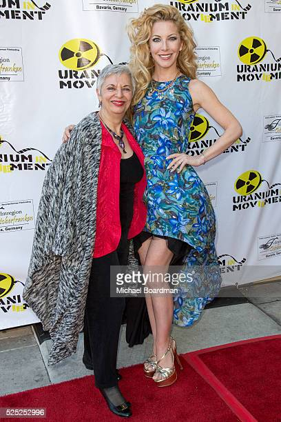 """Libbe HaLevy and Dustin Quick attend """"The Man Who Saved The World"""" premiere during the Atomic Age Cinema Fest at Raleigh Studios on April 27, 2016 in..."""