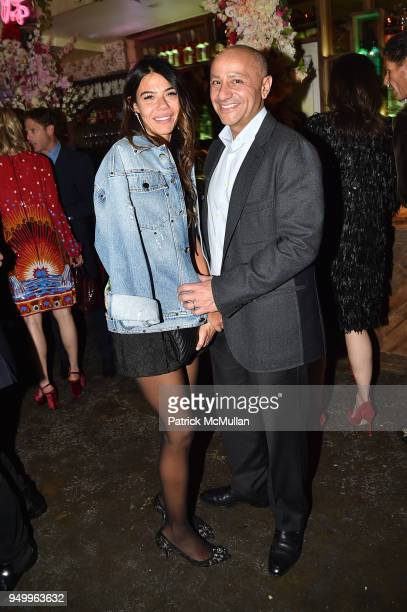 Libbie Mugrabi and David Berkman attend Billy Macklowe's 50th Birthday Spectacular at Chinese Tuxedo on April 21 2018 in New York City