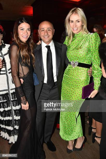 Libbie Mugrabi David Mugrabi and Carola Jain attend Julie Macklowe's 40th birthday Spectacular at La Goulue on December 19 2017 in New York City