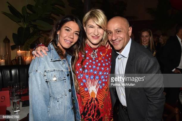 Libbie Mugrabi Julie Macklowe and David Mugrabi attend Billy Macklowe's 50th Birthday Spectacular at Chinese Tuxedo on April 21 2018 in New York City