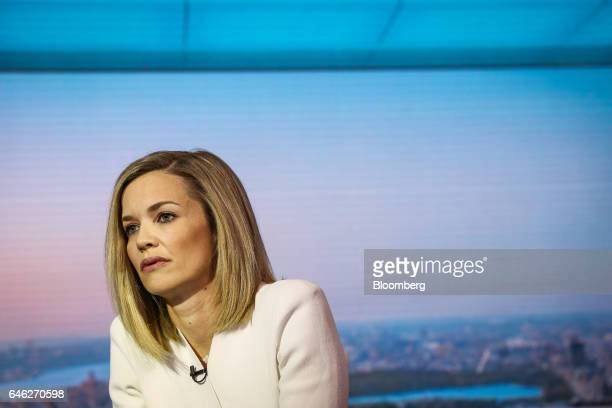 Libby Cantrill executive vice president of Pacific Investment Management Co LLC listens during a Bloomberg Television interview in New York US on...