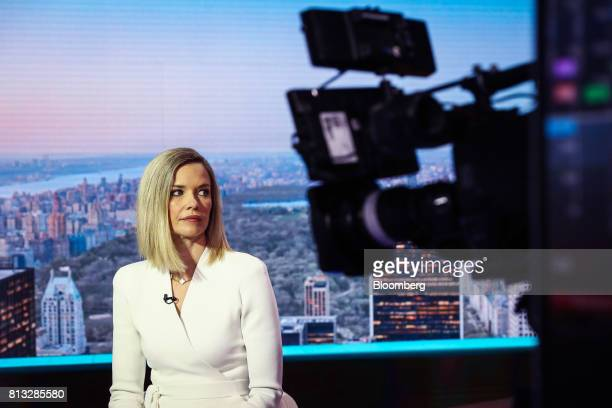 Libby Cantrill executive vice president of Pacific Investment Management Co listens during a Bloomberg Television interview in New York US on...