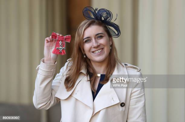 Libby Clegg after she was awarded an MBE by the Duke of Cambridge during an Investiture ceremony at Buckingham Palace on December 12 2017 in London...