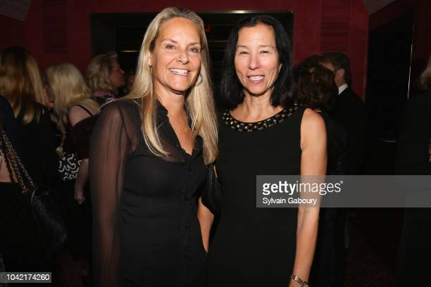 Libby Fitzgerald and Jill Roosevelt attend David Patrick Columbia And Chris Meigher Toast The QUEST 400 At DOUBLES on September 27 2018 in New York...