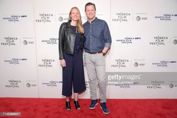 Libby Geist and Willie Geist attend the World premiere of The Good The Bad The Hungry at BMCC Tribeca PAC on April 26 2019 in New York City