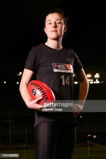 Libby Haines poses during the AFLW Draft Combine at Etihad Stadium on October 2 2018 in Melbourne Australia