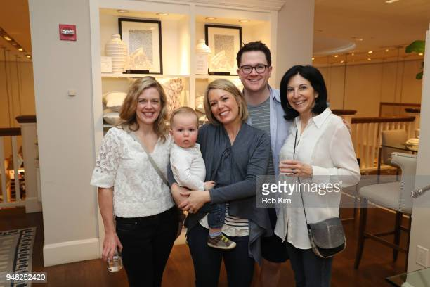 Libby Leist Dylan Dreyer Brian Fichera and Deborah Kosofsky attend 'Siriously Delicious' by Siri Daly book launch event at Williams Sonoma Columbus...