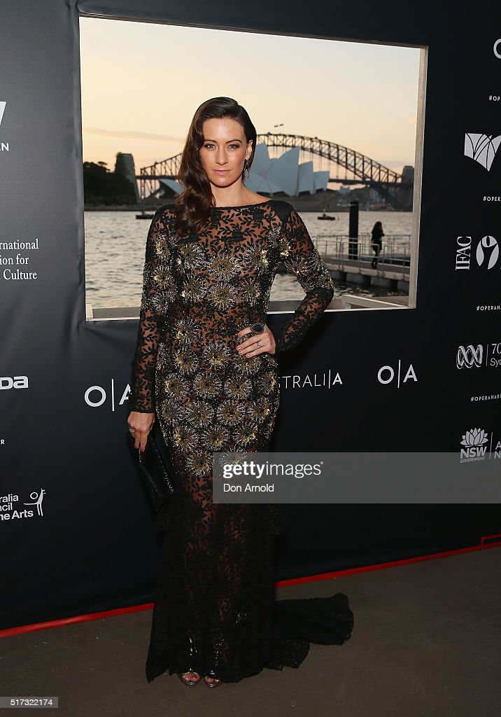 Libby Munroe arrives ahead of opening night of Handa Opera's Turandot on March 24, 2016 in Sydney, Australia.