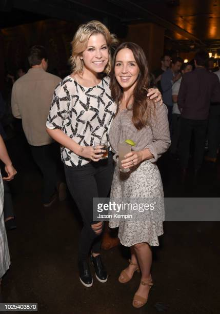 Libby Oellerich and Cassidy Cole attend the Nashville Filmmakers Guild ReLaunch Party at Analog at Hutton Hotel on August 29 2018 in Nashville...