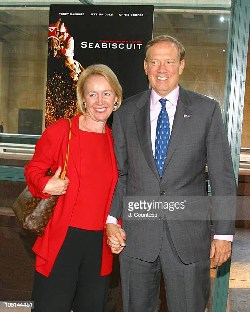 Libby Pataki and Govener George Pataki during Seabiscuit Special Screening New York City at Walter Reade Theatre at Lincoln Center in New York City...