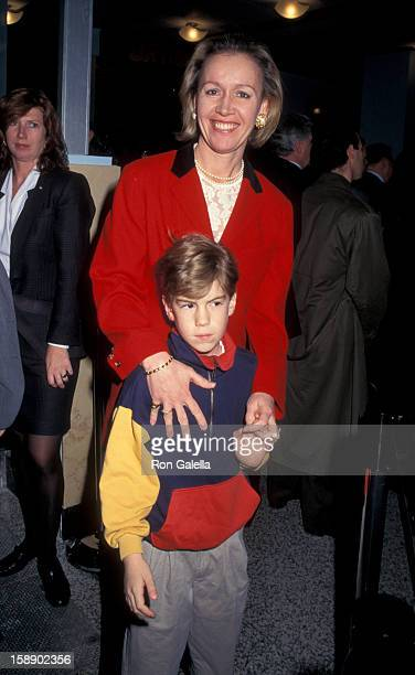 Libby Pataki and son Teddy Pataki attend the grand opening of New York Skyride on February 21 1995 at the Empire State Building in New York City