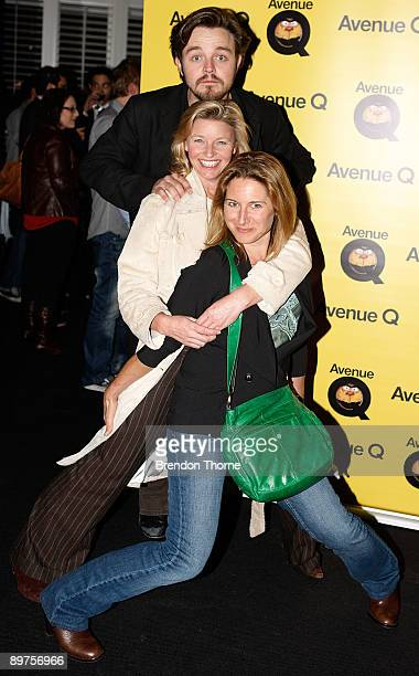 Libby Tanner Tammy Macintosh and Matthew Newton attend the after show party following the Sydney premiere of 'Aveue Q' at The Ivy on August 12 2009...