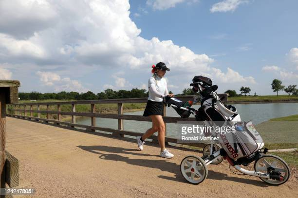 Libby Winans walks to the 18th green during the first round of the Energy Producers Inc Texas Women's Open on June 02 2020 in The Colony Texas