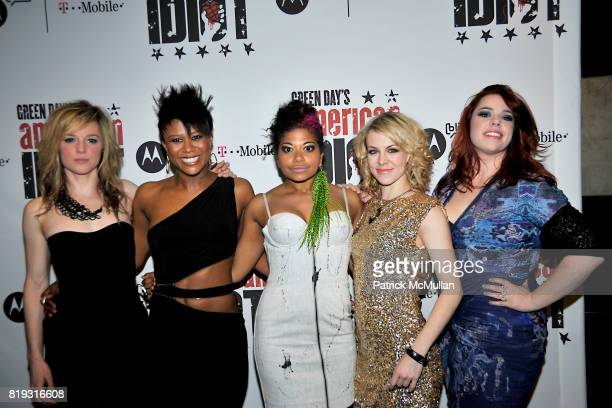 Libby Winters Christina Sajous Rebecca Naomi Jones Mary Faber and Alysha Umphress attend Opening Night of Green Day's American Idiot on Broadway at...