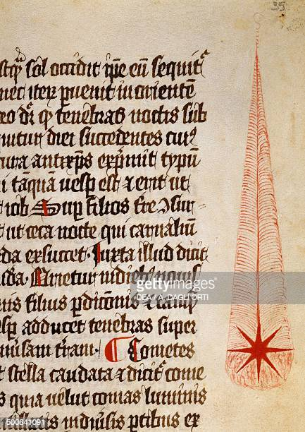 Liber particularis astrologiae shooting star dedicated to Frederick II by Michael Scot curial astrologer and later scientist at the court of...